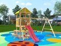 Детская площадка Крафтик со столиком в категории Детские площадки для дачи из дерева