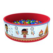 Сухой бассейн «Индейцы» 100 шариков в категории Мягкое игровое оборудование