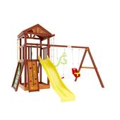 Детская деревянная игровая площадка Панда Фани Gride Color в категории Детские площадки для дачи из дерева