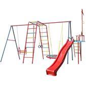 Спортивный комплекс Вертикаль Люкс П К1-Г1 с гнездом и горкой с вымпелом в категории ДСК Вертикаль