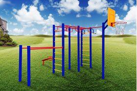 Детская площадка для дачи металлическая Марафон в категории  Детские игровые площадки металлические