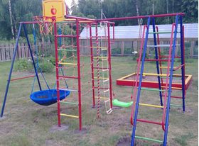 """Детский спортивный комплекс для улицы """"ВертикальА 1+П"""" макси в категории ДСК Вертикаль"""