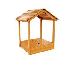 Детская песочница с деревянной крышей в категории Песочницы
