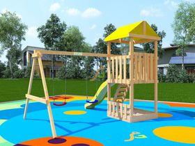 Детский деревянный игровой комплекс Крафтик в категории Детские площадки для дачи из дерева