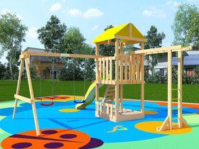 Детская площадка для дачи из дерева Крафтик с рукоходом в категории Детские площадки для дачи из дерева