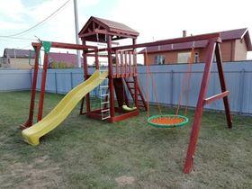 Детская деревянная площадка для дачи Панда Фани Gride с рукоходом в категории Детские площадки для дачи из дерева