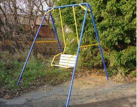 Качели детские уличные для дачи Лидер 1 в категории Детские качели для улицы и дачи
