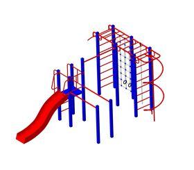 Детская площадка для дачи металлическая Кадет в категории  Детские игровые площадки металлические