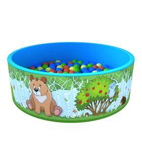 Сухой бассейн «Зверята» 100 шариков в категории Мягкое игровое оборудование