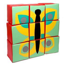 Мозаика «Бабочка», 9 предметов в категории Мягкое игровое оборудование