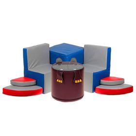 """Игровой набор мебели """"Бегемотик"""": 2 кресла, пуф, тумбочка в категории Мягкое игровое оборудование"""