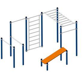 Площадка Workout №1 в категории Оборудование для воркаута: площадки