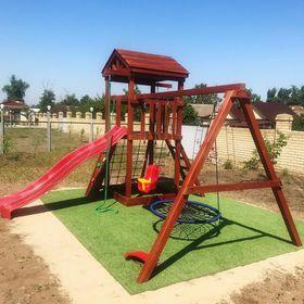 Детская деревянная игровая площадка Панда Фани Gride в категории Детские игровые площадки для дачи и улицы