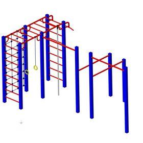 Детская площадка металлическая Полет в категории  Детские игровые площадки металлические
