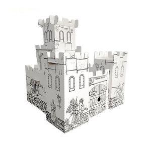 Рыцарский замок в категории Домики-раскраски