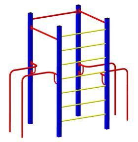 Детская площадка металлическая Рекорд в категории  Детские игровые площадки металлические