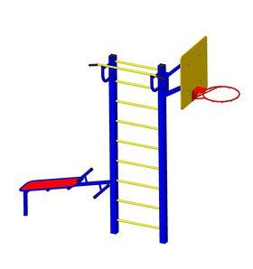 Детская спортивная площадка для дачи Радуга металлическая в категории  Детские игровые площадки металлические